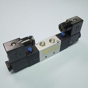 1 4 Pneumatic 5 2 Way Electric Control Solenoid Valve 4v220 08 12v Double Coil
