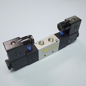 1 4 Pneumatic 5 2 Way Electric Control Solenoid Valve 4v220 08 24v Double Coil