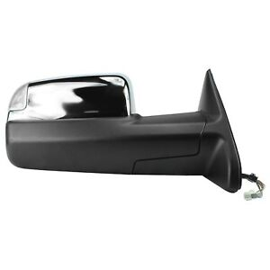 2009 2012 Dodge Ram 1500 Power Signal Tow Mirror Chrome Passenger Right Side