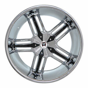 4 Gwg Wheels 20 Inch Chrome Black Spade Rims Fits 5x127 Et38 Volkswagen Routan