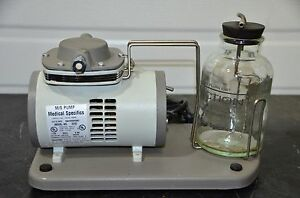 Medical Specifics M s Pump 2200 Vacuum Suction Aspirator Tested Guaranteed