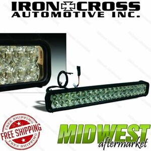Iron Cross Universal Fit 22 Led Light Bar With 40 Leds For Low Profile Bumpers