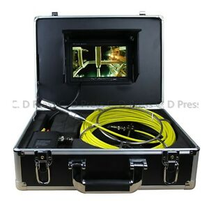 7 Tft Color Sewer Pipe Inspection Snake Video Camera System Endoscopes Led