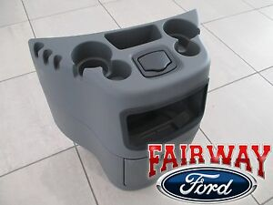 03 Thru 19 Econoline Van Oem Ford Dog House Center Console Cup Holder Flint Grey