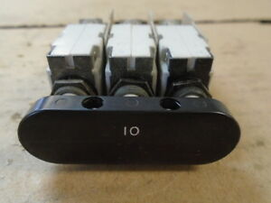 1 Ea Nos 10 Amp Circuit Breaker Used On Various Aircraft P n Mp 933b