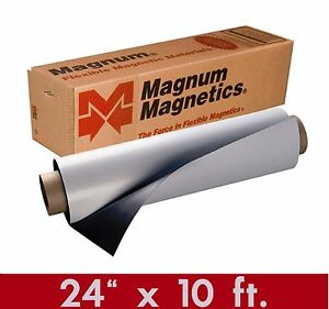 Magnum Mag 24 X 10ft Roll 30 Mil White Magnetic Sign Sheet Cars Crafts
