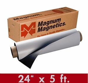 Magnum Mag 24 Width X 5 Ft Roll 30 Mil Blank Magnetic Sign Sheet Cars Crafts