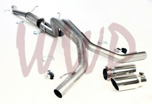 Stainless Steel Dual Exhaust Muffler System Kit 06 08 Dodge Ram 1500 Hemi 5 7l