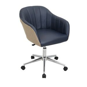 Lumisource Shelton Modern Office Chair In Tan And Navy