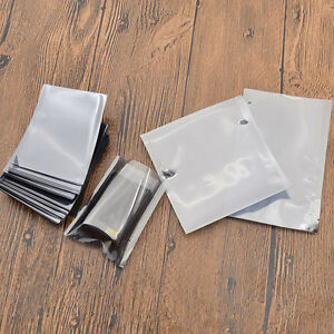 100 Pcs Esd Anti static Transparent Open Top Bags Storage Bag Pouch Replacement
