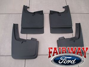 17 Thru 20 Super Duty Oem Ford Splash Guard Mud Flap Set 4 Pc Srw Without Lips