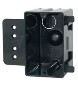48 Allied 18 0 Cu In Single Gang Electrical Outlet Box Black P 181h Receptacle