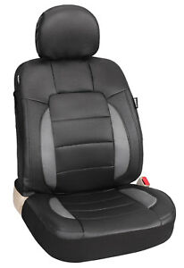 Auto Black Universal Simulated Leather Car Seat Covers Full Set Front Rear