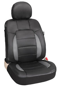 17pcs Black Universal Full Set Simulated Leather Car Seat Covers With Airbag