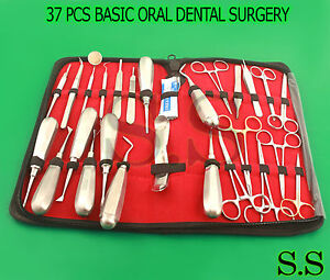 37 Pcs Premium Basic Oral Dental Surgery Surgical Instruments Set Kit Dn 530