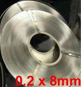 0 2 X 8mm 1kg Pure Nickel Plate 99 96 Strap Strips Sheets For Battery Weld