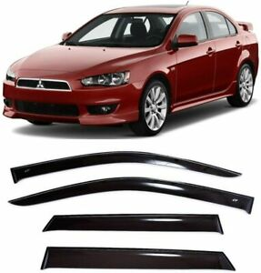 For Mitsubishi Lancer 2007 2017 Window Visors Sun Rain Guard Vent Deflectors