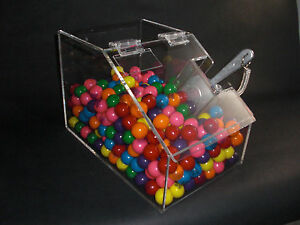 Acrylic Bulk Food Candy Cereal Nuts Spices Acrylic Bin 8 Wide With Scoop