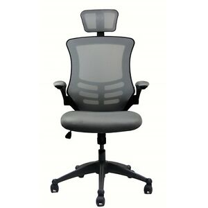 Techni Mobili Modern High back Mesh Executive Office Chair With Headrest And