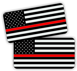 Firefighter American Flag Hard Hat Decals Helmet Stickers Thin Red Line Usa