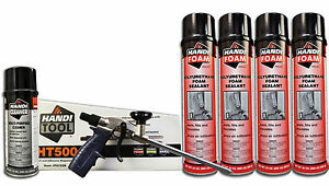 Handi Foam Sealant Gun Foam Combo Pack ht500 Cleaner 4 24oz Cans Sealant