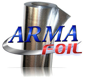 Arma Foil Radiant Barrier Reflective Insulation 25 5 Wide 500 Sqft Attic