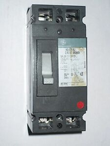 1 Pc Ge Teb122100 Circuit Breaker 2 Pole 100 Amp Used