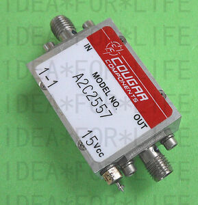 1pcs Used Good Cougrr A2c2557 10mhz 2 5ghz 18db Sma Low Noise Amplifier c2up