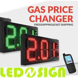 Led Sign Gas Pricer Red Green Letter Size 12 16 20 24 Selection