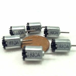 6 Pieces K10 Dc Small Mini Micro Motor 1w 0 5g cm 1 5 3 5vdc 35ma 16000rpm A1