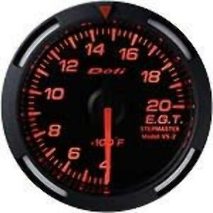 Defi Df06802 Racer Egt Gauge Red 52mm