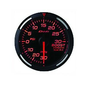 Defi Df11502 Racer Psi Turbo Gauge Red 60mm