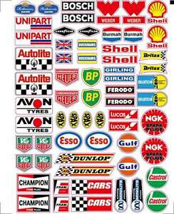Rc Car Moto Sponsor Decals Stickers 1 10 1 8 Motor Oil Logo Glossy Vinyl A4 Size