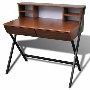Writing Desk Computer Laptop Table W Shelf Drawer Study Home Office Workstation