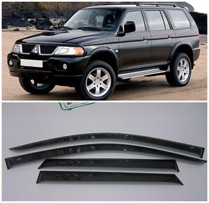For Mitsubishi Pajero Sport 1998 07 Window Visors Sun Rain Guard Vent Deflectors