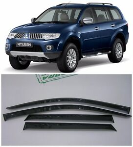 For Mitsubishi Pajero Sport 2008 16 Window Visors Sun Rain Guard Vent Deflectors