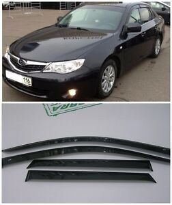 For Subaru Impreza Sd hb 2008 2011 Window Visors Sun Rain Guard Vent Deflectors