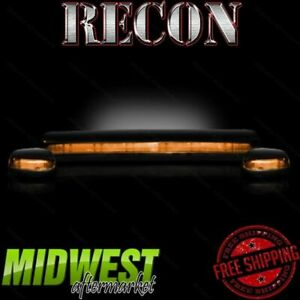 Recon Amber Cab Roof Lights With Amber Leds Fits 2007 2012 Gm Silverado Sierra