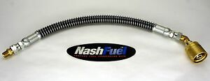 2ft Crimped Liquid Propane Hose Assembly Spiral Guard Tank Connection 24 Lpg