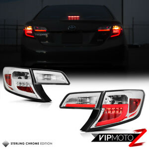 For 2012 2013 2014 2014 5 Toyota Camry Se Le Chrome Fiber Optic Led Tail Lights