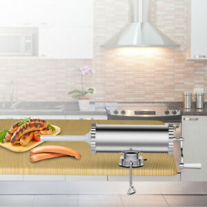3l Manual Sausage Stuffer Maker Meat Filler Machine W Suction Base Commercial