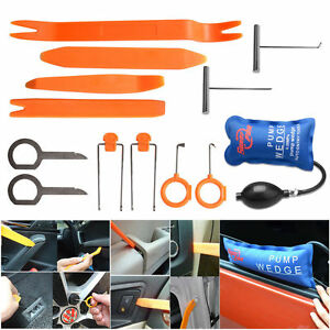 Car Panel Removal Open Pry Tools Kit Dash Door Radio Trim Pdr Pump Wedge 13p