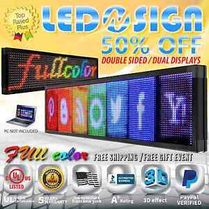Led Sign Full Color 2f 22 x98 Programmable Scrolling Readerboard Outdoor Sign