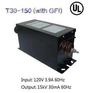 Ul American Core Inductor Neon Transformer Power Supply 15kv30ma450w With Gfi