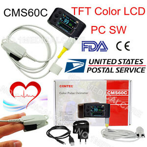 Fda Us Cms60c Portable Pulse Oximeter Oled Spo2 Pr Monitor Alarm software contec