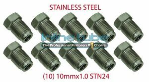 10mm X 1 0 Iso Bubble Flare Stainless Tube Nut Fitting 4 7mm Brake Line 10 Stn24