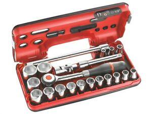 Facom Fcms360dbox1 Metric Socket Set Of 18 1 2in Drive