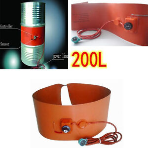 200l 55gallon 240v 1000w Silicon Rubber Band Heater For Metal Oil Drum Heating