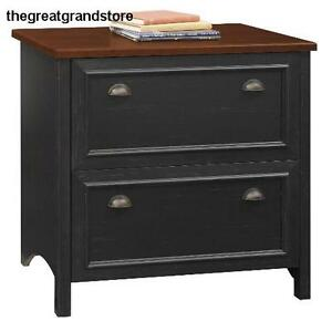 Stanford Lateral Home Office Furniture Sets File Cabinet In Antique Black Letter