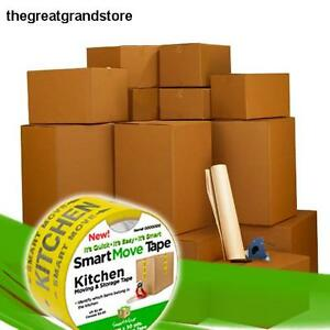 Uboxes Box Mailers Llc Smart Moving Boxes Kit Packing Supplies W Tape Cuff Wall